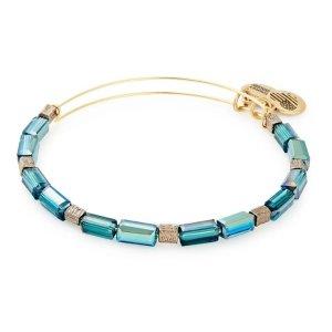 Alex and AniBuy 2 bracelets get 1 freeMetallic Hazel Aurora Beaded Bangle Bracelet - Shiny Gold Finish
