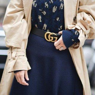 Gucci双G腰带$275 黑棕两色可选SSENSE定价优势专场,复古拖鞋$160