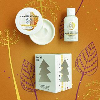The Body Shop Almond Milk and Honey Treats Cube Gift Set @ Amazon