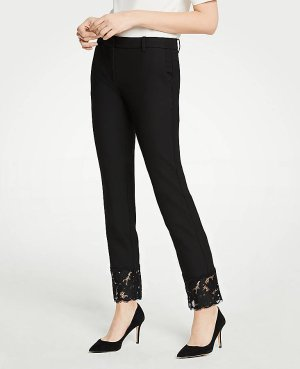 The Ankle Pant With Lace Hem | Ann Taylor