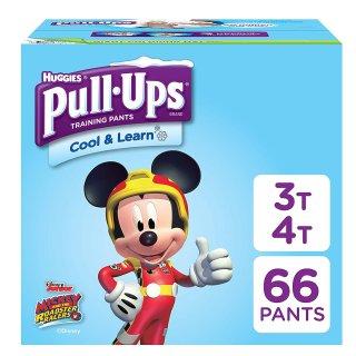 $14.29 合$0.23/片Pull-Ups 3T-4T 男童训练拉拉裤66片 适合32-40磅