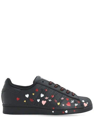 情人节限定爱心小白鞋