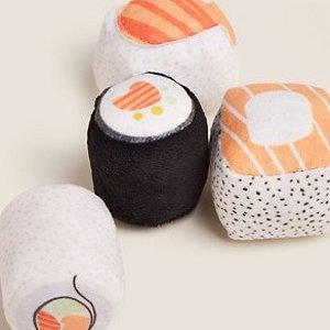 8折起!寿司猫玩具4个£6Marks&Spencer 宠物用品精选 逗猫棒、狗狗训练球热卖