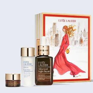 送5件套+可换购£329大礼包雅诗兰黛 超值圣诞礼盒上线 限量版金色小棕瓶精华来啦!