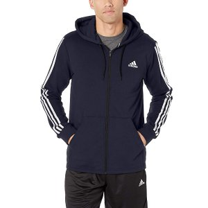 $24.00adidas Men's 3-Stripes Full Zip Fitted Hoodie