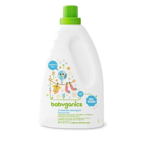 Amazon Babyganics 3X Baby Laundry Detergent, Fragrance Free, 60 Fluid Ounce