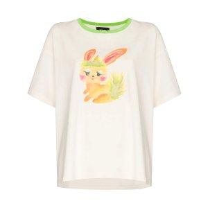 We11done最新小兔系列!bunny-print T恤