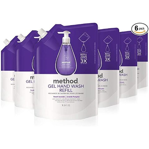 2 Pack French Lavender 34 Ounce Method Gel Hand Soap Refill