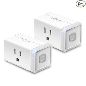 TP-LINK Kasa HS103P2 WiFi 智能插座, 2个装