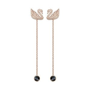 08edbe7a1 SwarovskiGet $20 off $150 purchase.| Iconic Swan Pierced Earrings, White,  Rose gold