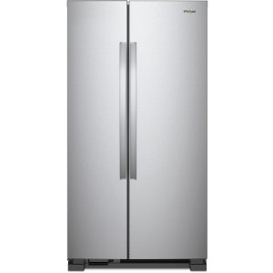 WhirlpoolWRS315SNHM 36 Inch Side-by-Side Refrigerator with Spillproof Glass Shelves, Adjustable Gallon Storage, Humidity-Controlled Crisper, LED Interior Lighting, Hidden Hinges, Electronic Temperature Controls, Adaptive Defrost and 25.1 cu. ft. Capacity: Monochromatic Stain