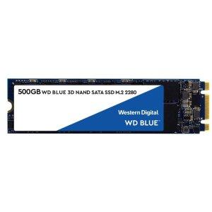 $56.99 (原价$79.99)WD Blue 3D NAND M.2 2280 500GB 固态硬盘
