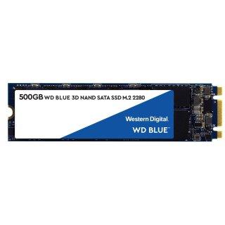 $55.99 (原价$79.99)WD Blue 3D NAND M.2 2280 500GB 固态硬盘