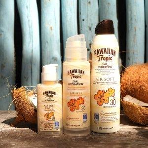 6.6折 仅€8.93 海边也不怕晒黑Hawaiian Tropic 防晒乳 SPF30 清爽不油腻 成膜就丝滑