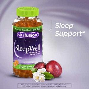 $6.91(原价$8.29)Vitafusion 褪黑素软糖 60粒装 轻松拥有好睡眠 包文婧推荐