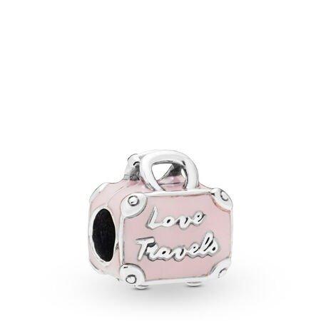 粉色行李箱串珠
