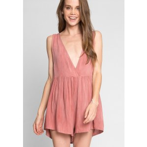 Wet Seal$20 off with $40 PurchaseRanch Drop Waist Romper - Look Stunning | Wet Seal