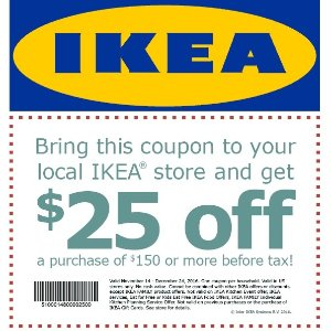 $25 Off $150IKEA Purchase Coupon