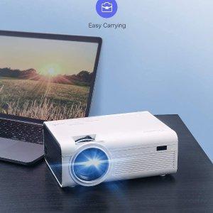 史低价€49 家庭影院的体验Crosstour 迷你投影仪 支持1080P全高清 内置环绕声扬声器