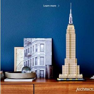 包郵 送$12.99的小套裝LEGO官網 建筑系列熱賣,半米多高的帝國大廈新到