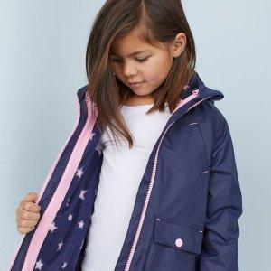 低至$2.99 新加入多款外套H&M 儿童服饰全场热卖 促销款好货多