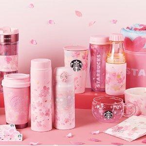 直邮含税到手价$68起星巴克日本樱花限定 少女心炸裂樱粉色 保温杯 马克杯