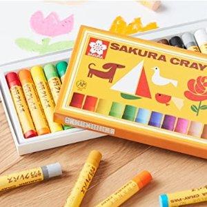 16色蜡笔折$12.5Sakura 樱花牌儿童画笔多款 收超顺手三角杆铅笔