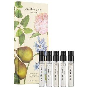 $32 送Fresh玫瑰面膜中样上新:Jo Malone 迷你香水5件套装 一次收齐明星经典香