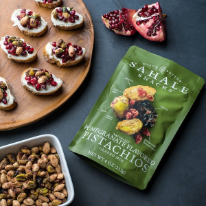 $11.03 + Free ShippingSahale Snacks Pomegranate Flavored Pistachios Glazed Mix (Pack of 9)