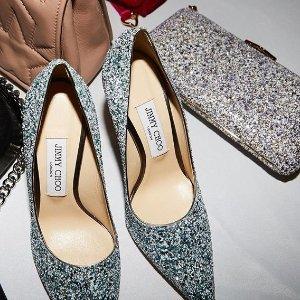 最高减$200 超美通勤鞋7.5折Jimmy Choo 美鞋热卖 渐变高跟鞋、水晶鞋码全