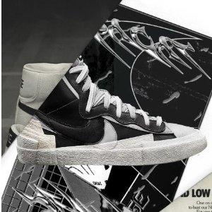 $140+包邮 抽签开始Nike x Sacai Blazer Mid 合作款运动鞋开售