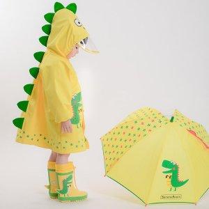开售3.4折收封面小恐龙雨衣超可爱儿童雨衣热卖  萌化你的小心脏 加拿大本地仓发货
