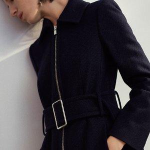 额外7.5折Club Monaco男女毛呢大衣、外套热卖 收米色Teddy款