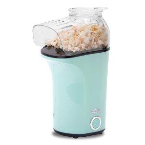 DASH Popcorn Machine: Hot Air Popcorn Popper + Popcorn Maker with Measuring Cup to Measure Popcorn Kernels + Melt Butter - Aqua @ Amazon