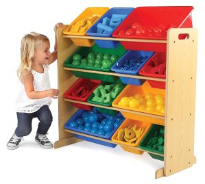 $44.86Tot Tutors Kids' Toy Storage Organizer with 12 Plastic Bins, Natural/Primary @ Amazon