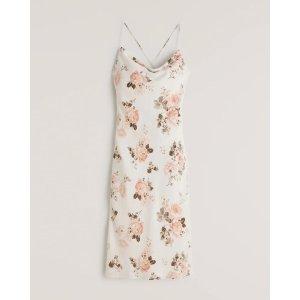 Abercrombie & FitchWomen's Cowlneck Slip Midi Dress | Women's Clearance | Abercrombie.com