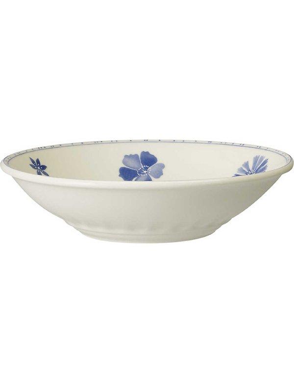 蓝色印花汤碟 25cm