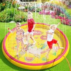 低至7.1折 €13.99起儿童趣味充气喷喷泉池专场热卖 清凉一夏 开心解暑