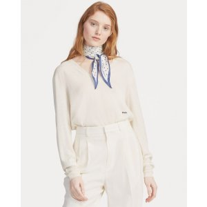 Ralph LaurenSilk-Blend V-Neck Sweater