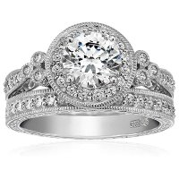 Amazon Collection 纯银复古镶钻戒指