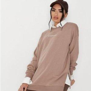 无门槛5.5折 封面卫衣$18.15Missguided 时尚孕妇服,US 2-14码日常可穿 秋冬色很巧克力