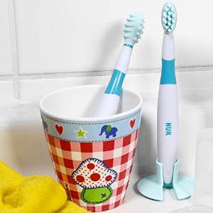 折后仅€2.68 原价€5.49NUK 婴儿牙刷套装 柔软硅胶牙刷➕咬咬棒 缓解长牙不适