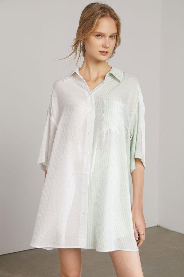 Anna Creamy Mint 衬衫裙