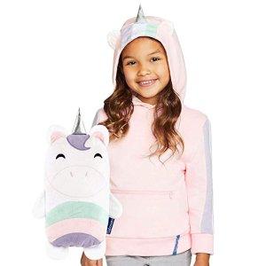 低至$17.5(原价$35)CUBCOATS 儿童2-合-1卡通造型帽衫 秒变毛绒玩偶