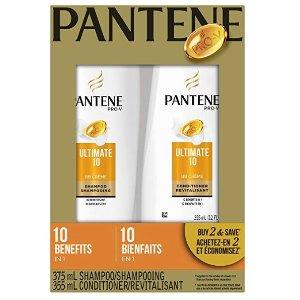 $7.78(原价$16.67)PANTENE Pro-V Ultimate 10 潘婷洗发水+护发素套组 730ml