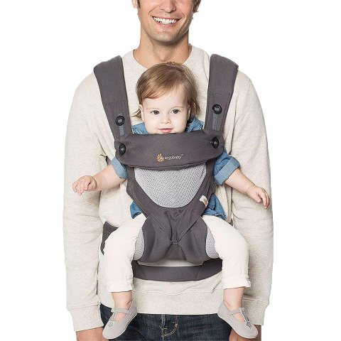 Ergobaby 360 All Carry Positions Award-Winning Cool Mesh Ergonomic Baby Carrier (Carbon Grey)