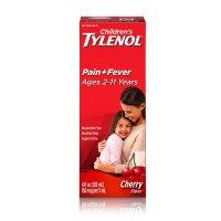 Tylenol 儿童泰诺退烧止痛糖浆,樱桃味,4oz
