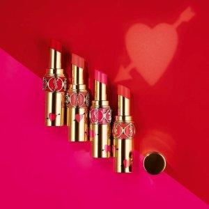 现价$38YSL Beauty官网 新款限量红唇金色圆管唇膏上新