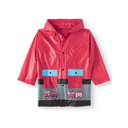 消防车正红色儿童雨衣