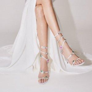 满额低至7折+免邮Rene Caovilla 美鞋热卖 水晶蛇形绑带鞋$959